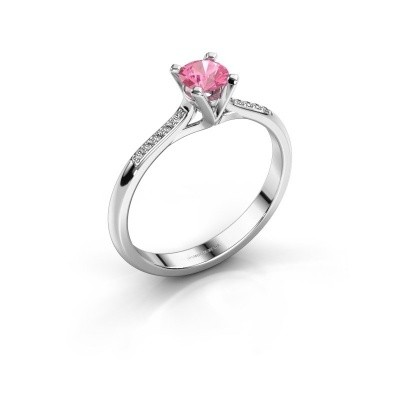 Picture of Engagement ring Isa 2 950 platinum pink sapphire 4.2 mm