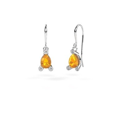 Picture of Drop earrings Bunny 1 950 platinum citrin 7x5 mm
