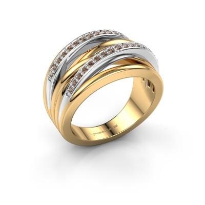 Foto van Ring Annabel 2 585 goud bruine diamant 0.24 crt