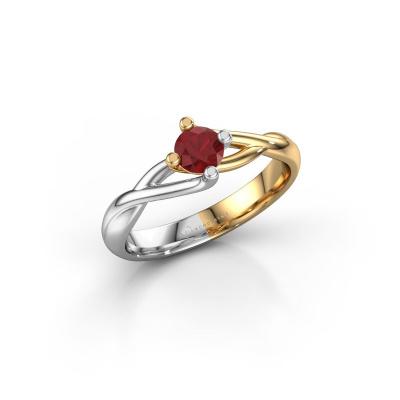 Foto van Ring Paulien 585 goud robijn 4.2 mm