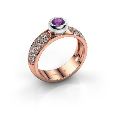 Picture of Ring Benthe 585 rose gold amethyst 4 mm