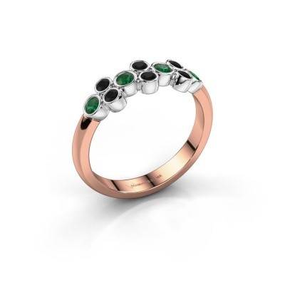 Ring Kayleigh 585 rose gold emerald 2.4 mm