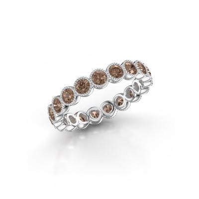 Foto van Ring Mariam 0.07 950 platina bruine diamant 1.52 crt