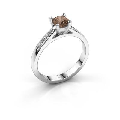 Bague de fiançailles Nynke 950 platine diamant brun 0.46 crt