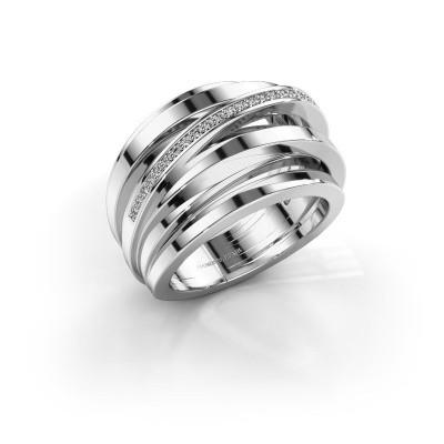 Ring Swinda 950 platina zirkonia 1 mm
