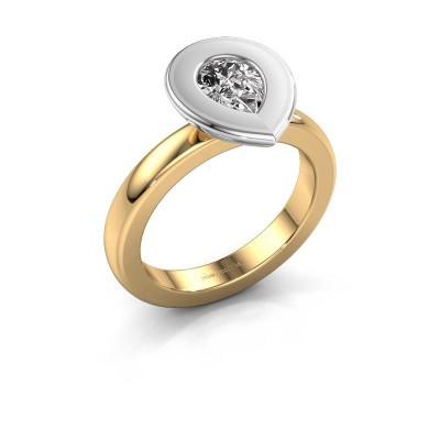 Steckring Eloise Pear 585 Gold Lab-grown Diamant 0.65 crt