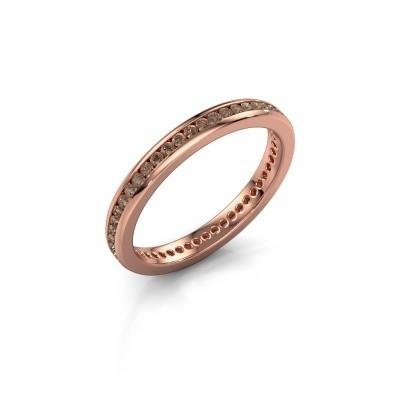 Aanschuifring Lura 1 375 rosé goud bruine diamant 0.49 crt