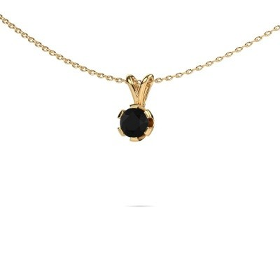 Foto van Ketting Julia 375 goud zwarte diamant 0.60 crt