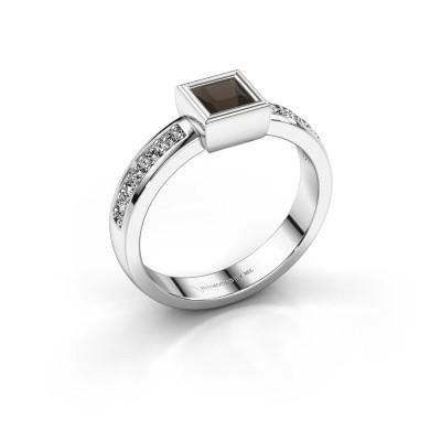 Foto van Ring Aimee 2 925 zilver rookkwarts 4 mm