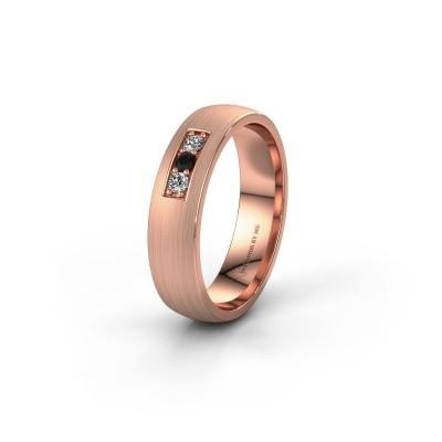 Ehering WH0110L25AM 375 Roségold Schwarz Diamant ±5x1.7 mm