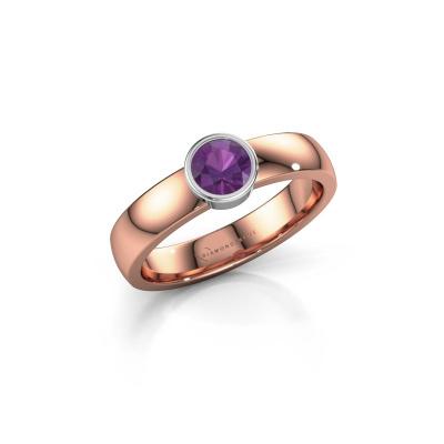 Foto van Ring Ise 1 585 rosé goud amethist 4.7 mm