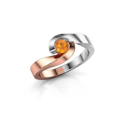 Foto van Ring Sheryl 585 rosé goud citrien 4 mm