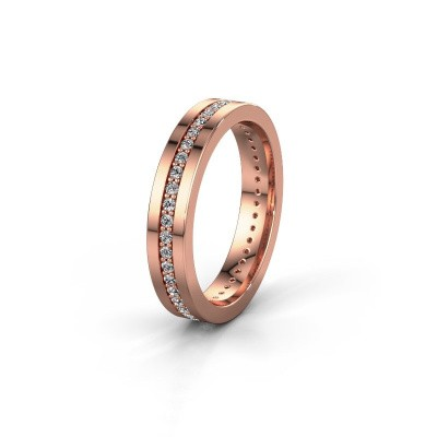 Trouwring WH0103L14BP 375 rosé goud diamant 0.44 crt ±4x2 mm