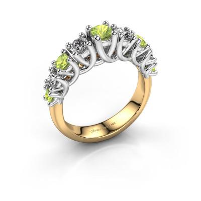 Engagement ring Fatima 585 gold peridot 3.7 mm