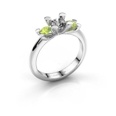 Bague Mirthe 950 platine diamant synthétique 0.50 crt