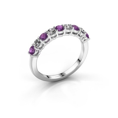 Picture of Engagement ring Michelle 9 585 white gold amethyst 2.7 mm