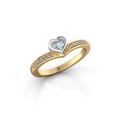 Ring Mimi 585 Gold Aquamarin 2 mm