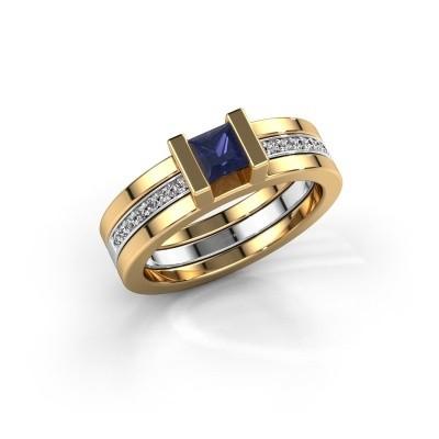 Foto van Ring Desire 585 goud saffier 4 mm