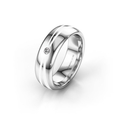Wedding ring WH2226L36BP 925 silver ±0.24x0.08 in