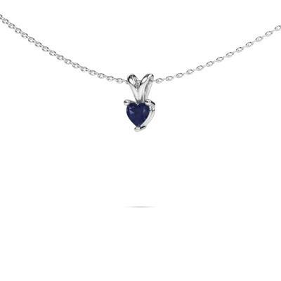 Picture of Necklace Garnet 950 platinum sapphire 4 mm