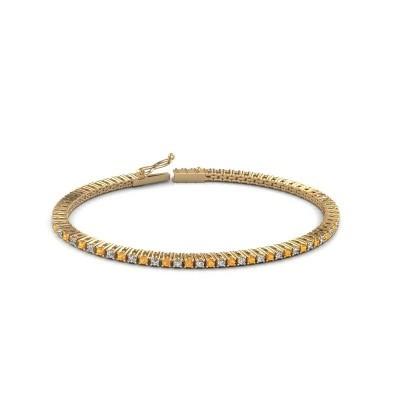 Tennis bracelet Simone 375 gold citrin 2 mm