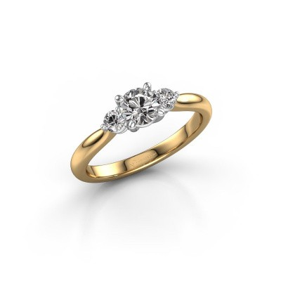 Picture of Engagement ring Lieselot RND 585 gold diamond 0.66 crt