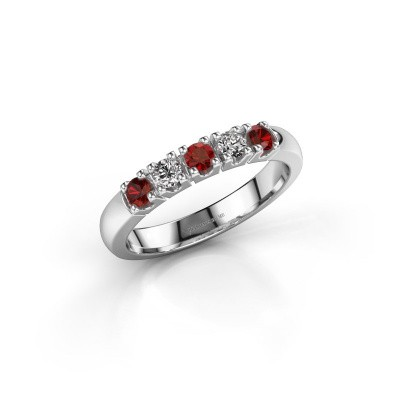 Picture of Ring Rianne 5 585 white gold garnet 2.7 mm