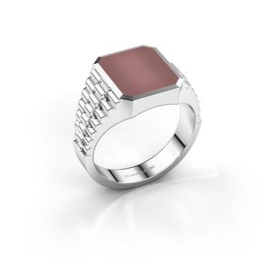 Foto van Rolex stijl ring Brent 2 585 witgoud carneool 12x10 mm