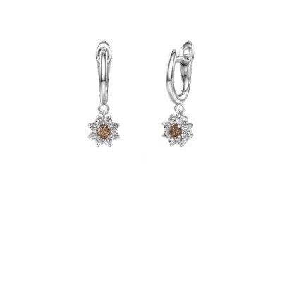 Picture of Drop earrings Camille 1 950 platinum brown diamond 0.52 crt