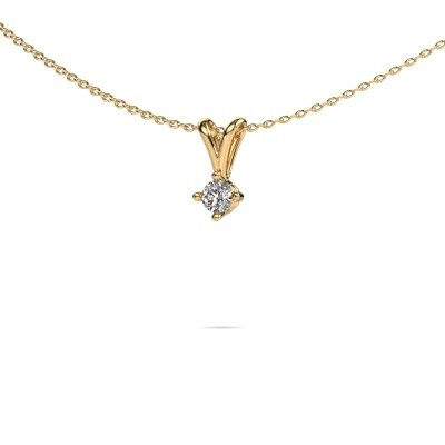 Foto van Ketting Jannette 375 goud lab-grown diamant 0.20 crt