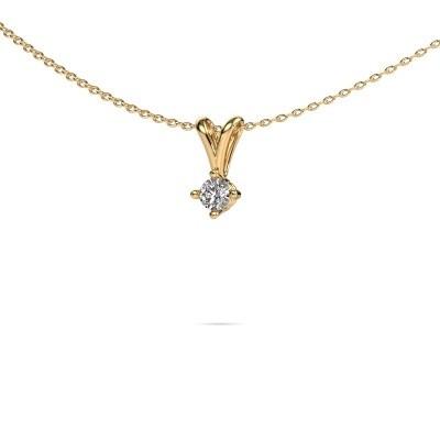 Foto van Ketting Jannette 375 goud lab-grown diamant 0.20 crt