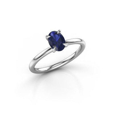 Picture of Engagement ring Crystal OVL 1 585 white gold sapphire 7x5 mm
