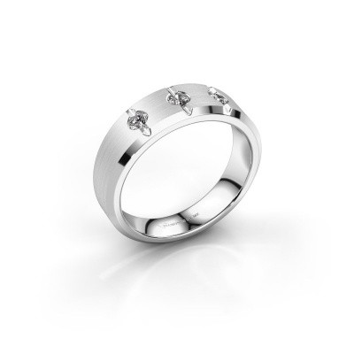 Foto van Heren ring Remco 375 witgoud zirkonia 2.7 mm