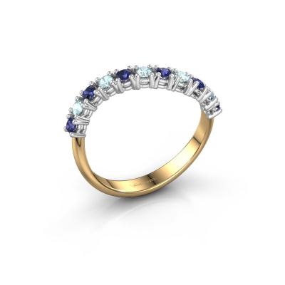 Ring Eliza 585 goud saffier 2 mm
