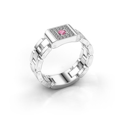Bild von Rolex Stil Ring Giel 585 Weißgold Pink Saphir 2.7 mm