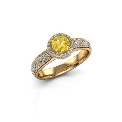 Engagement ring Mildred 375 gold yellow sapphire 5 mm