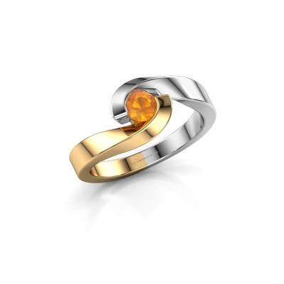 Foto van Ring Sheryl 585 goud citrien 4 mm