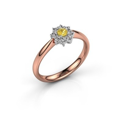 Picture of Engagement ring Carolyn 1 585 rose gold yellow sapphire 3 mm
