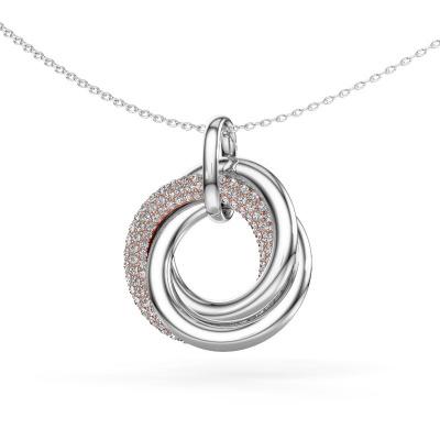Foto van Hanger Helena 2 585 rosé goud diamant 0.768 crt