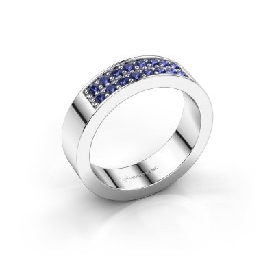 Stackable ring Catharina 5 585 white gold sapphire 1.7 mm