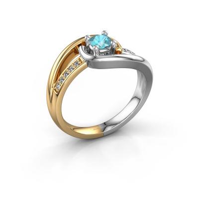 Ring Aylin 585 gold blue topaz 4 mm