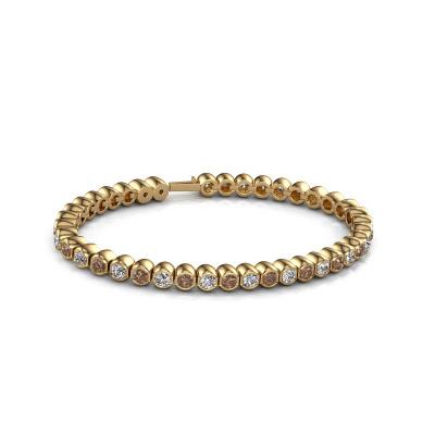 Picture of Tennis bracelet Bianca 3.5 mm 375 gold brown diamond 7.200 crt