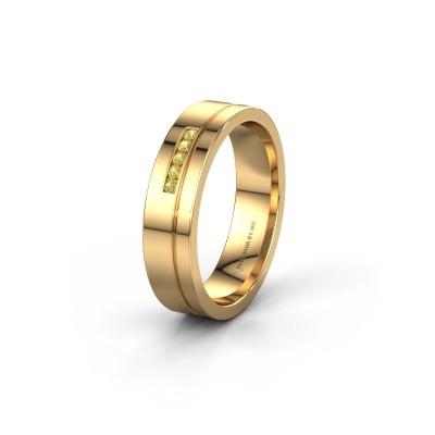Trouwring WH0307L15AP 585 goud gele saffier ±5x1.7 mm
