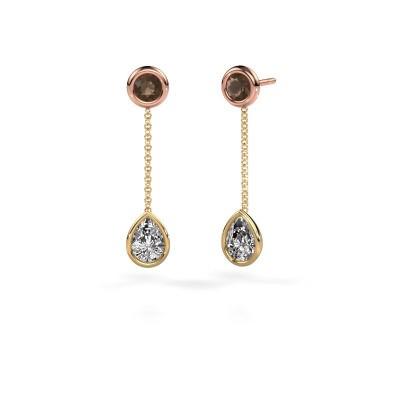 Foto van Oorhangers Ladawn 585 goud lab-grown diamant 0.65 crt