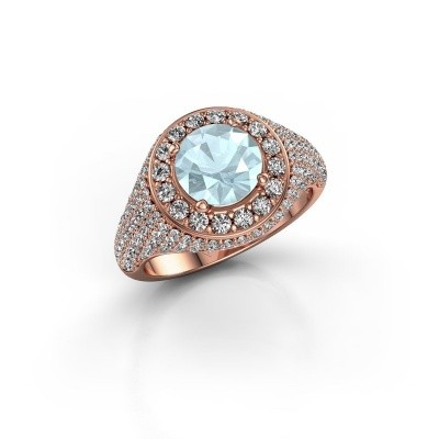 Picture of Ring Dayle 375 rose gold aquamarine 7 mm