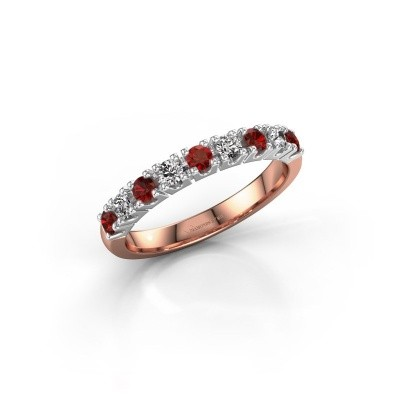 Engagement ring Rianne 9 585 rose gold garnet 2.4 mm