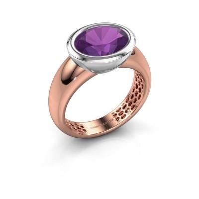 Ring Evelyne 585 Roségold Amethyst 10x8 mm