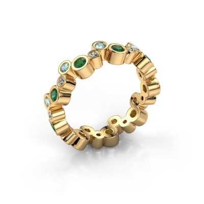 Foto van Ring Tessa 585 goud smaragd 2.5 mm