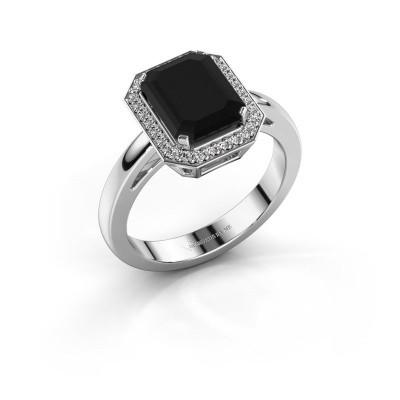 Foto van Verlovingsring Dodie 1 585 witgoud zwarte diamant 3.15 crt