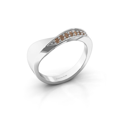 Ring Lynn 585 witgoud bruine diamant 0.216 crt